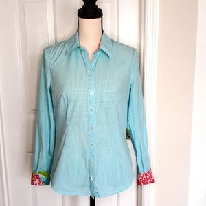 Lilly Pulitzer Cotton Gingham Button Down Shirt